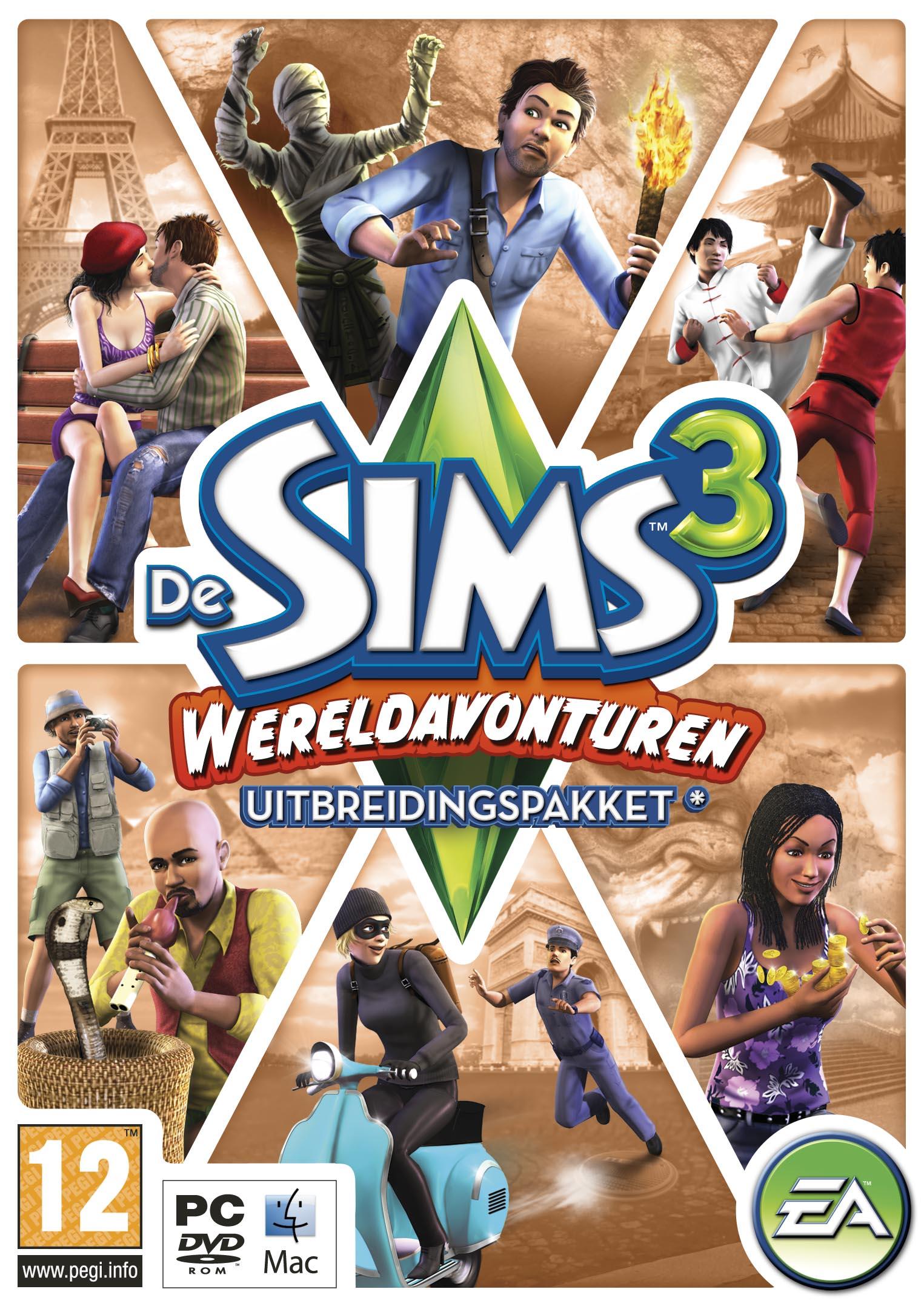 De Achterkant Van De Sims 3 Wereldavonturen Box